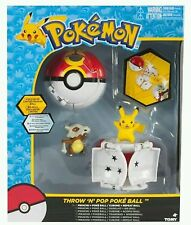 NEW TOMY Pokemon Throw 'n' Pop Dual PokeBall Pikachu Cubone-Limited Repeat Ball!