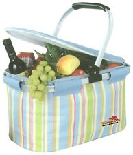 Picnic Cooler Basket Insulated Hamper 22 litre with Aluminium Frame Beach Travel