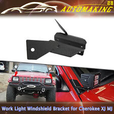 "For Jeep Cherokee XJ MJ A-Pillar Windshield 4"" LED Work Light Mounting Brackets"