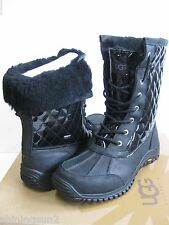 Ugg Adirondack Quilted Black Women Boots US12/UK10.5/EU43