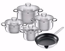 WMF Silit 9-piece Toskana 18/10 Stainless Steel Cookware Set