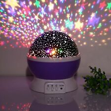 LED Star Night Lights Lamp Rotation Projector Ideal For Kids Children