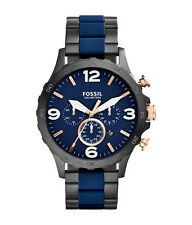 Fossil Men's Chronograph Two-Tone Silicone Watch JR1494