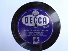STARGAZERS - Rose Of The Wildwood / Came The Morning 78 rpm disc
