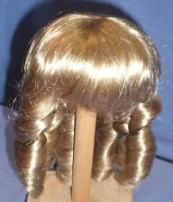 "doll wig blond 11"" to 11,5"" Glorex  pageboy cut with ringlets"