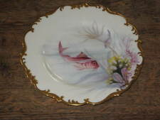 BROWN WESTHEAD MOORE CO CABINET FISH PLATE PAINTED BY J N BRADLEY C 1900S