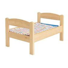 IKEA DUKTIG PINE DOLL BED WITH BEDLINEN MULTICOLOR SET KIDS 18 MONTHS AND OLDER
