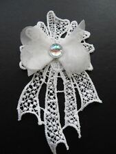 4 pieces of 3D guipure lace wedding bridal applique motif off white