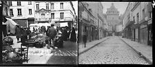 LOCHES c. 1920 - 22 Stéréos Verre Indre et Loire - 182