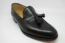 Crockett and Jones CAVENDISH 2 Loafer Shoes Black Calf Leather sole size UK9G