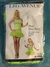 Pixie Dust Green Fairy Adult Costume Small/Medium Tinker Bell Style
