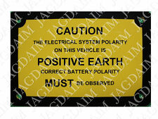 JAGUAR DAIMLER POSITIVE EARTH BADGE MK2 S-TYPE 420 250 V8 POS1