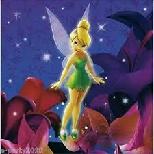 TINKER BELL LUNCH NAPKINS (16) ~ Disney Fairies Birthday Party Supplies Dinner