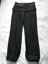 Lululemon Athletica Skirted Lined Track Pants Sz 6 Wet Warm Dry Black Blue Mesh