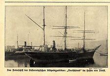Das Polarschiff der Oesterreichischen Südpolexpedition Hafen Triest Bildd.1914