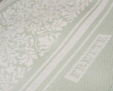 """FRETTE 1908 Floral Green Half Tone Tablecloth 59"""" x 54"""", Stunning Embroidery NEW"""