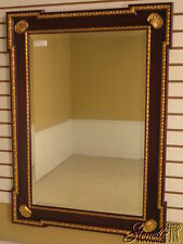25183: FRIEDMAN BROTHERS Chippendale Mahogany & Gold Framed Mirror