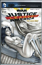 DC Comics JUSTICE LEAGUE of AMERICA #7 Original Art WONDER WOMAN Sketch Cover