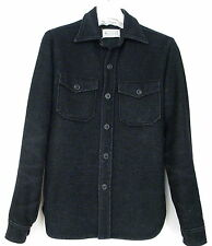 *MARTIN MARGIELA* (10)- EARLY MENS BLACK THICK OVER SHIRT/JACKET-ITALY-SIZE 50