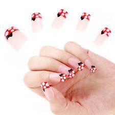 Boîte 24pcs Ongles Capsules Faux Papillon en Plastique DIY Art Nail Manucure