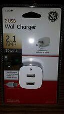 NEW OEM GE Wall Charger 2 USB 2.1 AMP 10 Watt -