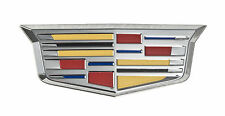"Cadillac New Style Crest 4 3/4"" Fender Grille Grill Adhesive Chrome Emblem"