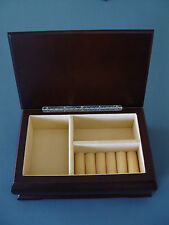 NEW INFINITY EMPEROR WALNUT JEWELRY HOLDER CASE BOX ORGANIZER 11255W