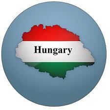 HUNGARY MAP/FLAG - ROUND SOUVENIR FRIDGE MAGNET - NEW - GIFT - STOCKING FILLER