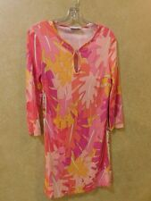 Emilio Pucci Multi Color Abstract Long Sleeve V Neck  Dress Sz IT 38 ______R11C3