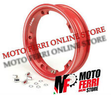 CERCHIO TUBELESS MARGHERITA ROSSO 3-00-10 VESPA 50 SPECIAL - MADE IN ITALY