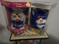 2 Furby 's  Millenium Edition 2000 Silver Blue Furby and Blue Silver New in Box