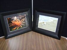 SET OF 2 NAUTICAL FRAMED PHOTOS SIGNED ***LOOK***  14  X 17