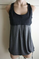 Lululemon Athletica Size 12 Black and Heathered Grey Racerback Fitness Top