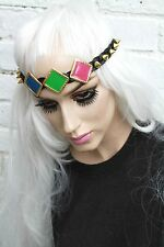 POP ART GEOMETRIC 60S STUDDED INDIE HEADBAND GOBBOLINO