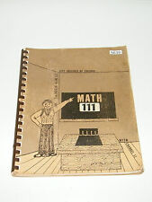 Math 111 City Colleges of Chicago WTTW Channel 11 Dr James Gray 1971