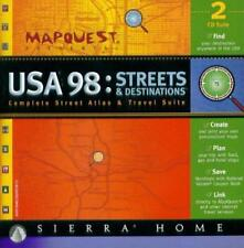 MapQuest USA 98 PC CD create custom plans maps mapping atlas & travel suite tool