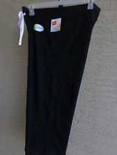 NWT Hanes Live Love Color 50/50 Fusion Soft French Terry  Capris L Black
