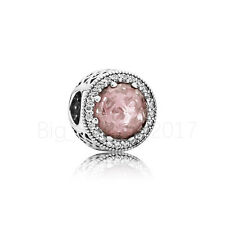 Authentic Pandora Charm Radiant Hearts Blush Pink Crystal WITH *Pouch 791725NBP