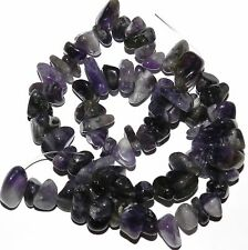 NG2166 Chevron Purple Amethyst Medium (10-16mm) Polished Gemstone Chip Beads 15""