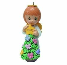 PRECIOUS MOMENTS  2015 Ornament  Angel Girl With Star on Tree  NEW