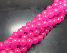 Wholesale 30pcs 8mm  Glass Pearl Round Spacer Loose Beads bright rose