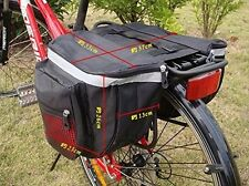 Double Bicycle Cycle Pannier Storage Bag Rear Bike Rack Tail Seat Trunk 12L*2