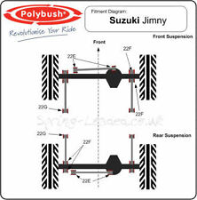 Polybush Front and Rear Radius Arm to Chassis Bush Kit for Suzuki Jimny :22G