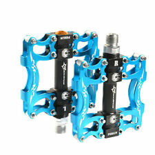 RockBros MTB Bike Cycling Pedals Aluminum Sealed Bearing Pedals Blue 9/16""