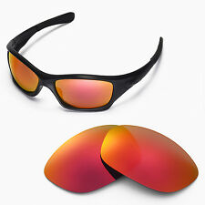 New Walleva Polarized Fire Red Lenses For Oakley Pit bull