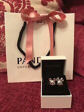 Genuine Disney Pandora Mickey Mouse And Minnie Mouse Head Charm With Box & Bag!