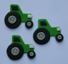 12 edible TRACTOR cupcake cake decoration topper farmer deere FARM