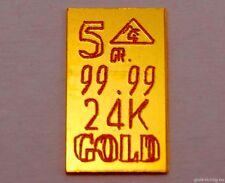 GOLDBARREN 5 GR. = 0,324 Gramm (999,9 Gold, Barren, Geburtstag, Geschenk) NEU