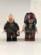 Lego Pirates Caribbean minifigs JACK SPARROW poc012 & HECTOR BARBOSSA poc004