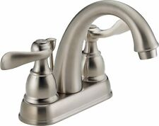 New stainless steel finish 2-handle Delta Windemere bathroom sink faucet